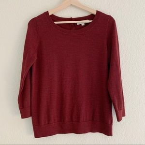 LOFT BURGUNDY SWEATER (0803)